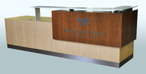 Arnold Reception Desks, Inc. - Contemporary Reception Desk: DIAMONTE