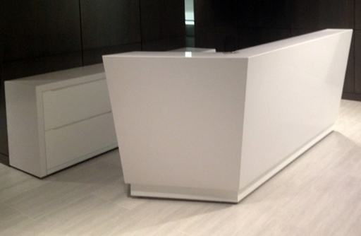 Quartz Stone Reception Desk : Arnold reception desks inc custom prismo