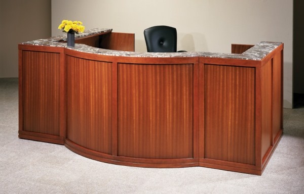 Arnold Reception Desks Inc Transitional Reception Desk